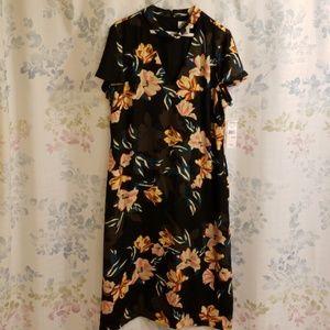 Lovely Black Floral Dress 16W